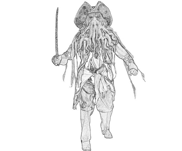 Davy Jones Coloring Pages Printable
