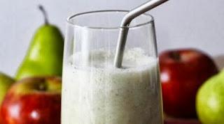 Vitamina de maçã e pera light
