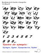 Coleccion de letras para rotulista. Este tipo de letra se llama 13_Misa. catalogo de letras misa