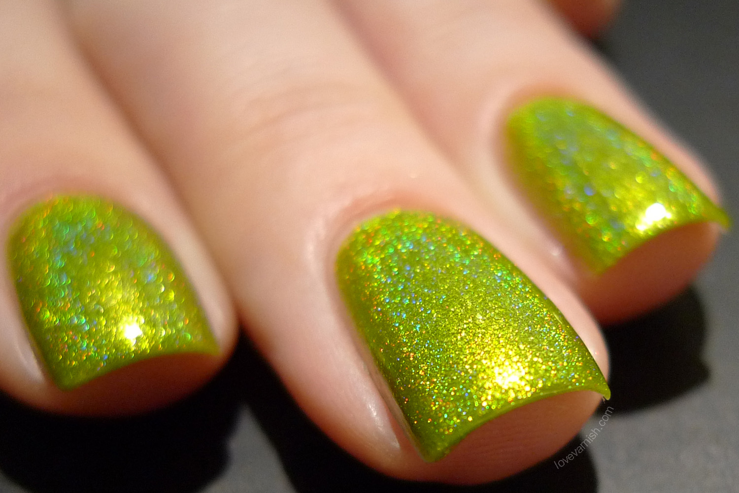 Cirque Heritage Panacea chartreuse green holographic polish