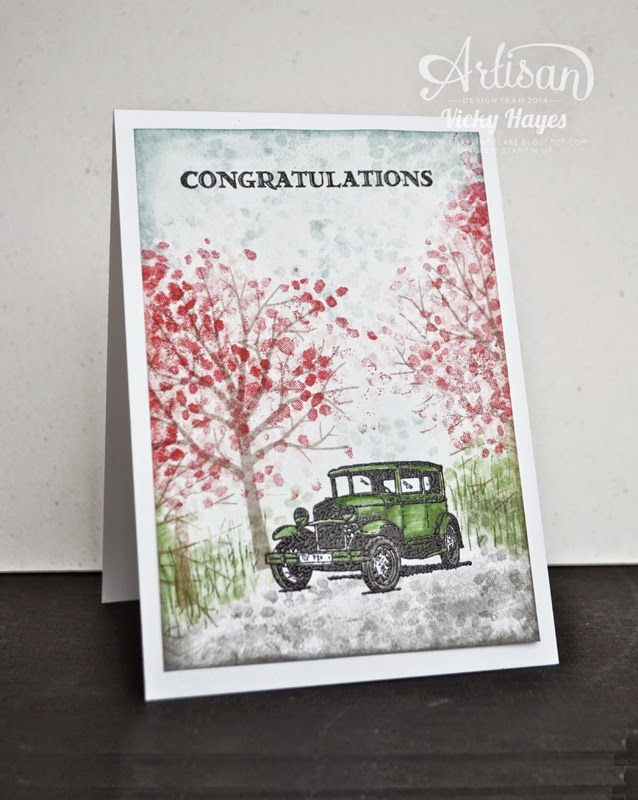 A nostalgic, romantic, vintage engagement or anniversary card