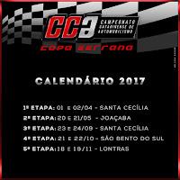 Calendário 2017 - Copa Serrana