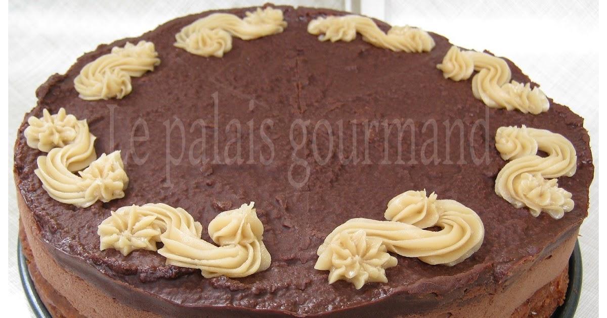 Gâteau fondant caramel et chocolat