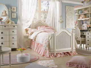 Cantiknya Desain Kamar Tidur Utama Bergaya Shabby Chic