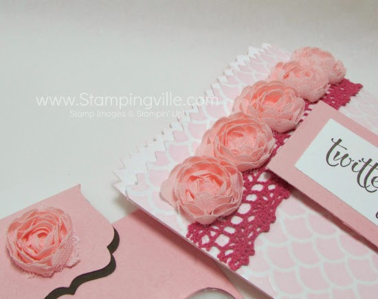 Great use of products in the Stampin' Up! Artisan Embellishment Kit. #papercrafts #Valentines #StampinUp