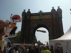 L'Arc de Triomf al fons.