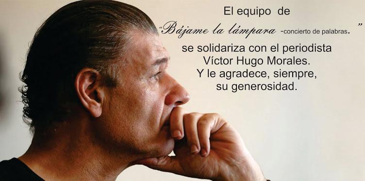 Nos solidarizamos con Víctor Hugo