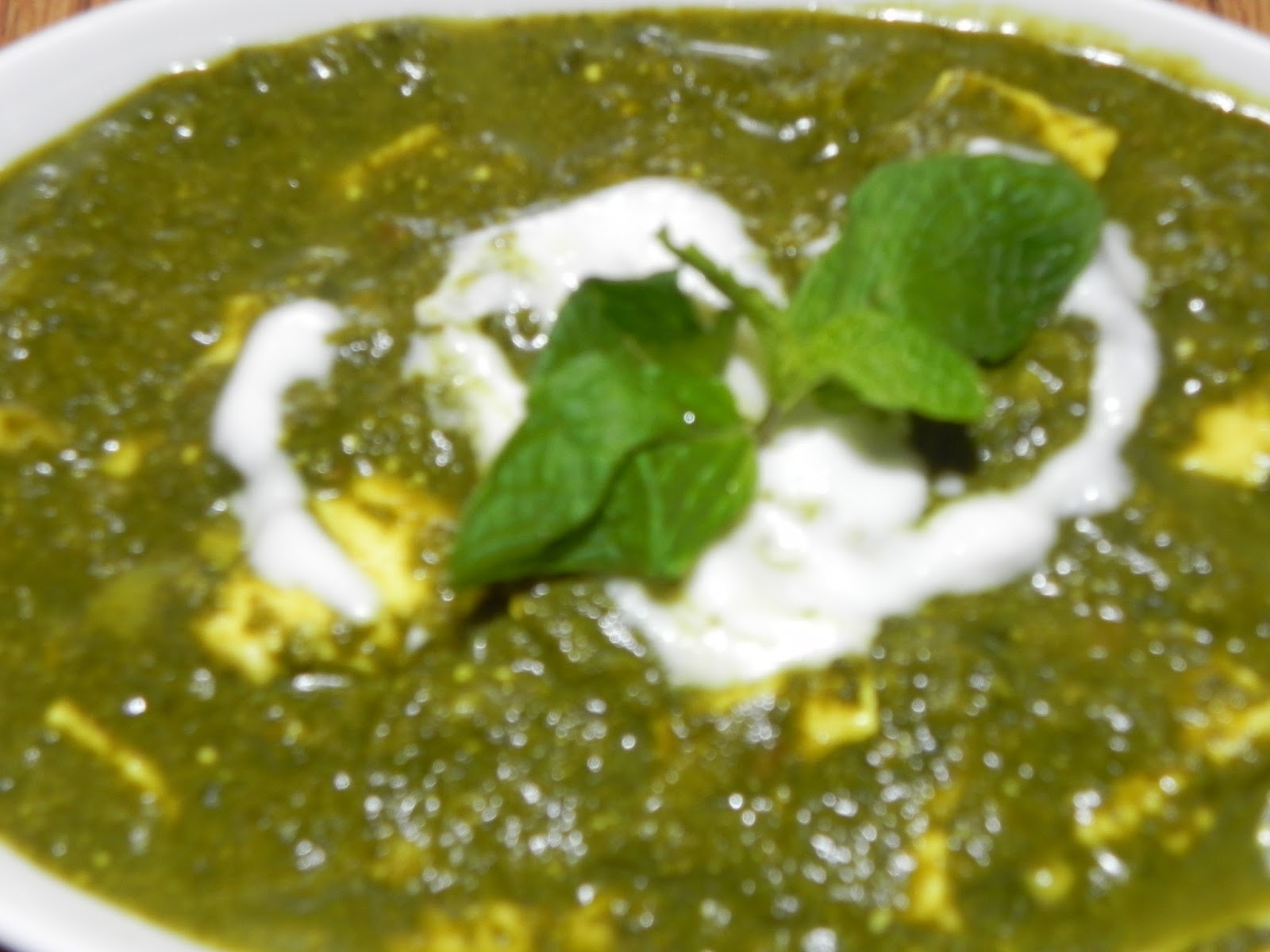 Sachi's Kitchen: Palak-Paneer (Spinach-Cottage Cheese) Recipe