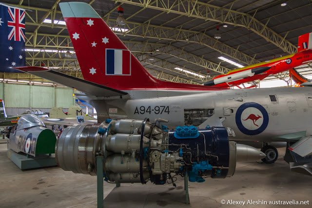 Avon Sabre display in Classic Jets Fighter Museum, Parafield Airport, South Australia