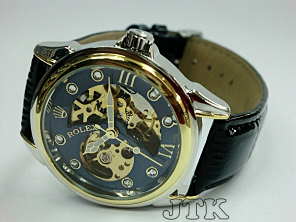 Jam Rolex Skeleton Leather