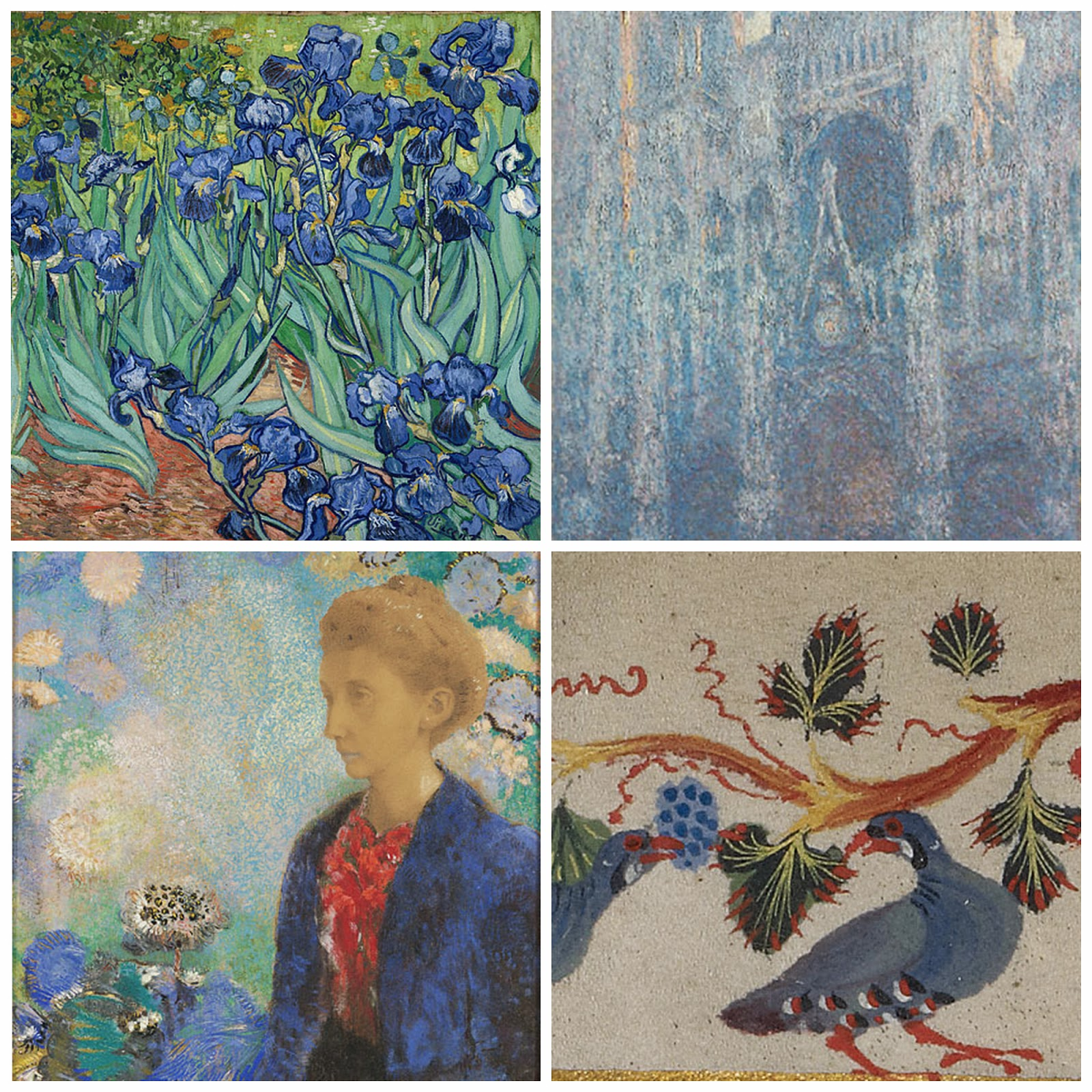 Monet, Van Gogh, Irises, art, paintings,
