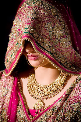 Indian Bridal wear with Jewellery