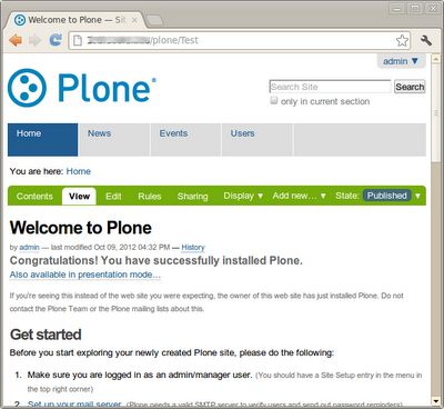 BitNami Plone Stack for Linux full screenshot