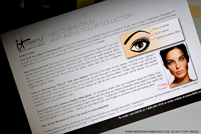 It Cosmetics 5 Piece Antiaging Color Collection QVC Exclusive Indian Beauty Makeup Blog Photos Reviews How to Use Directions