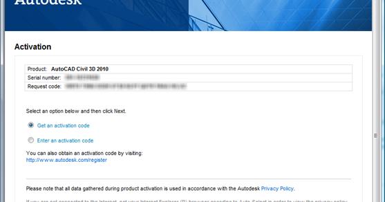 autocad 2010 activation code 64 bit
