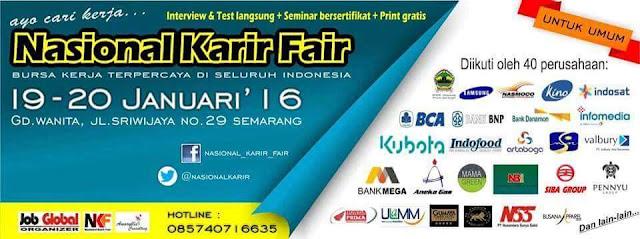 JobFair Semarang 19 - 20 Januari 2016 Nasional Karir Fair