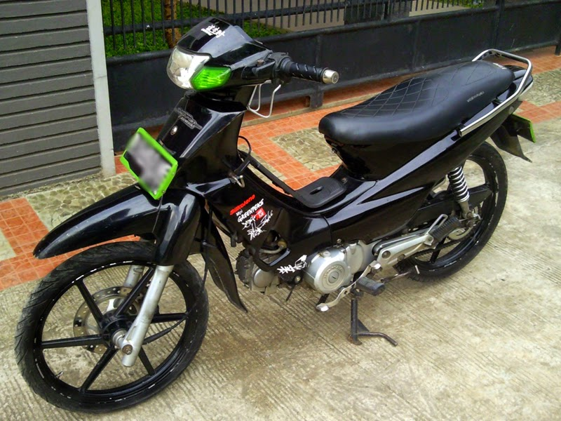Foto Modifikasi Motor Jupiter Mx Warna Hitam