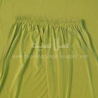 Telekung lycra hijau lumut bahagian pinggang