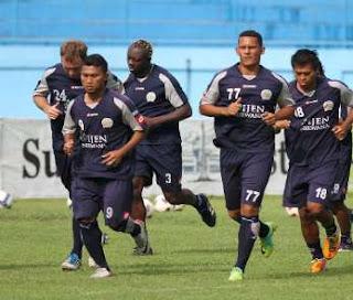 Soccer Indonesia Arema Pemain Arema vs Persiwa