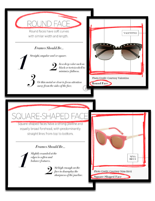 Square Shape Round shape sunglasses