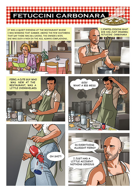 Holo Gay Geek: Comic : Fettucini Carbonara