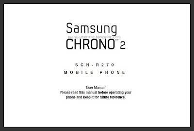 Samsung Chrono 2 (SCH-R270) Manual Cover