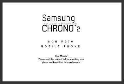 Samsung Chrono 2 (SCH-R270) Manual Cover