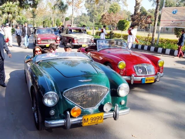 Old car exhibition by the tourism of Pakistan