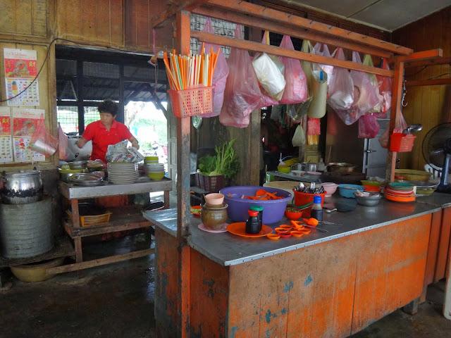 Open Kitchen Concept of Cheong Loy Rice Shop, Pasar Jalan Patrick off Jalan Bijeh Timah, Ipoh, Perak, Malaysia