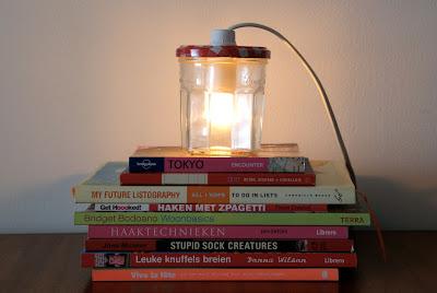 Bonne maman jam potje lamp - jam jar lamp DIY