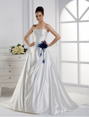 Rainingblossoms new arrivals add something blue to your for White wedding dress with blue accents