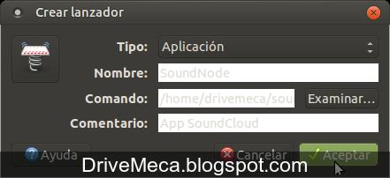 DriveMeca instalando SoundNode en Linux Ubuntu paso a paso