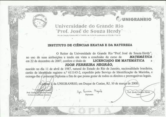 Diploma uerj