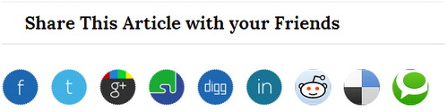 All social sharing buttons widgets for blogger