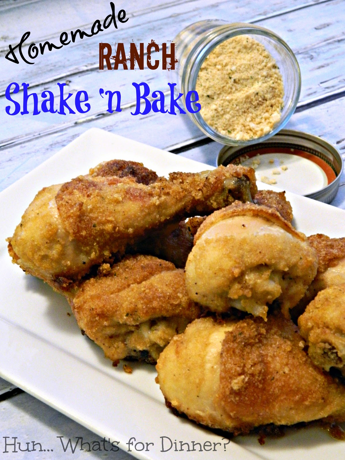 Hun... What's for Dinner? Homemade Shake 'n Bake- make an old classic at home!