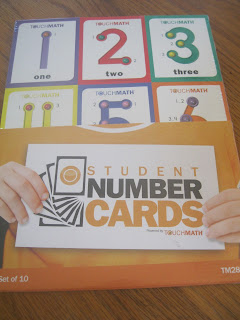 number cards with touch points