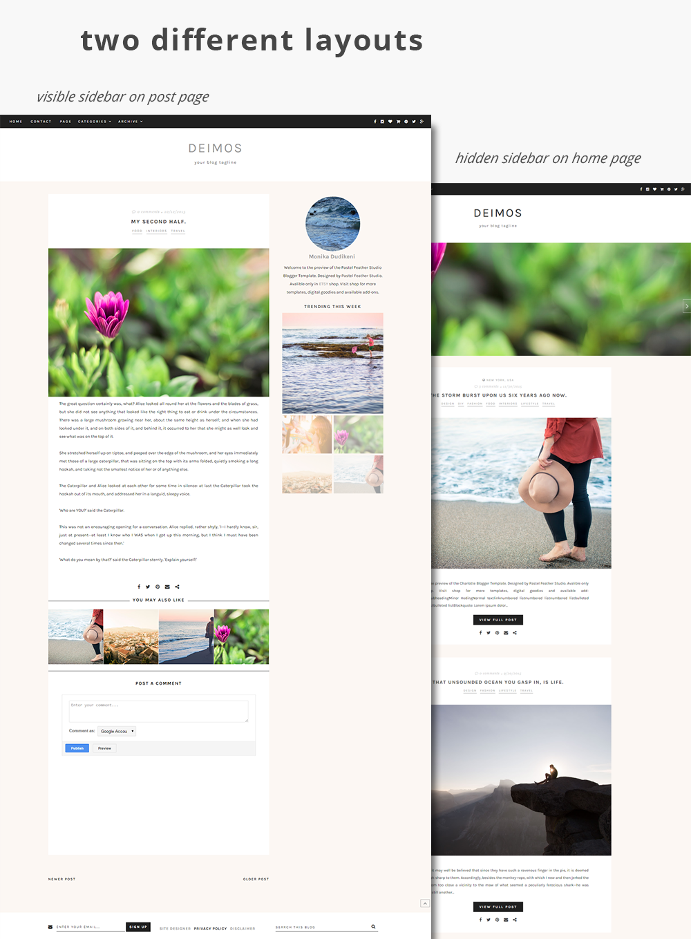 blogger template, blog theme, responsive blog theme, blog layout