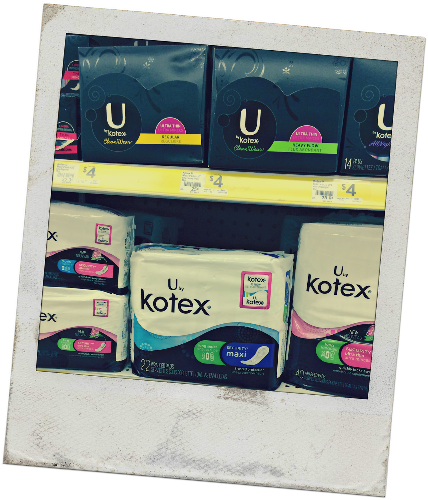 U By Kotex- Pads-Liners- Panties