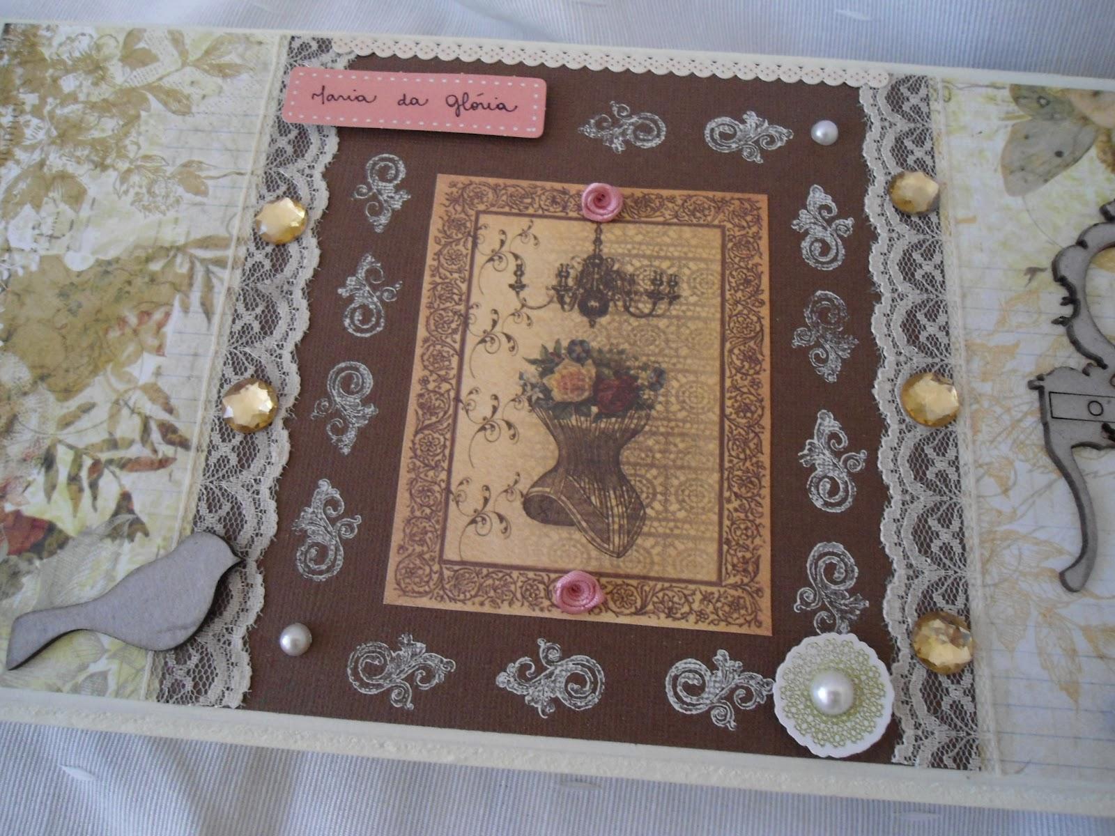 Artesanato Vintage ~ M& B Artes Porta joia marfim e marrom vintage