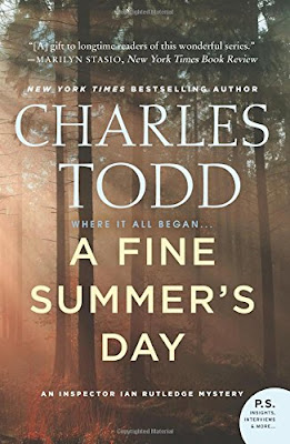 Fuelled by fiction, fueled by fiction, book review, charles todd, a fine summer's day, ian rutledge, mystery, english, world war one, wwi, book blogger