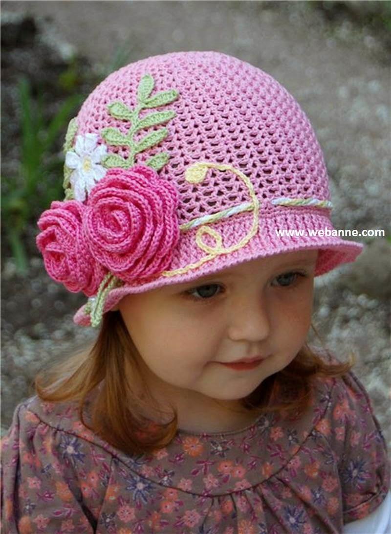 Вязание детскихлетних шапочек