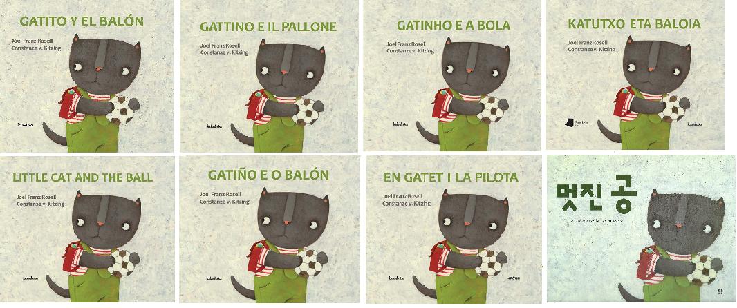 """Mon best seller international """"Gatito y el balón"""" (inédit en français) déjà disponible en 8 langues"""