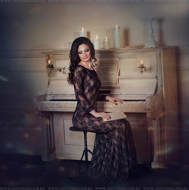 фотосессия за роялем