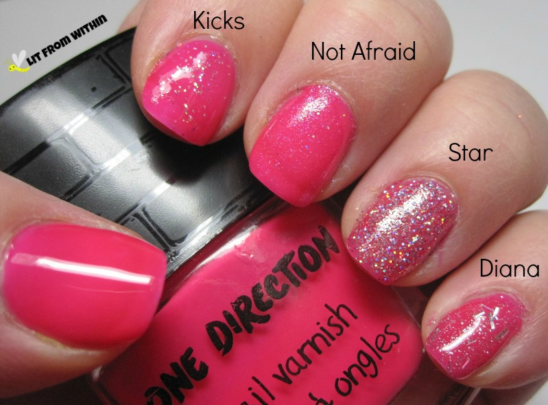 The One Direction Rock Me Nail Kit - Moments, with Kicks, Not Afraid, Star, and Diana