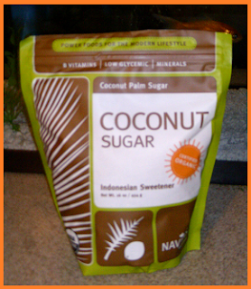 Package of 100% organic coconut palm sugar