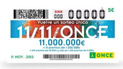 Sorteo del 11 del 11 de la ONCE