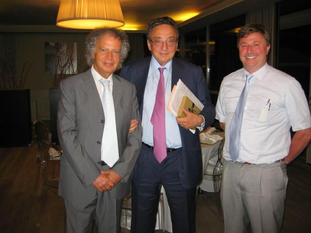 Il Prof Laurenzano con l'ex Ministro