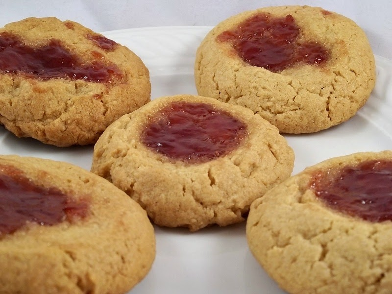 Frugal Antics of a Harried Homemaker: Peanut Butter and Jelly Cookies
