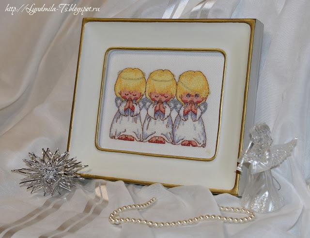 Dimensions - 16633-DMS Almost Perfect (Почти идеальный), ангелы, ангелочки, вышивальные приметы, вышивка к детям, белая рамка, деремянная рамка