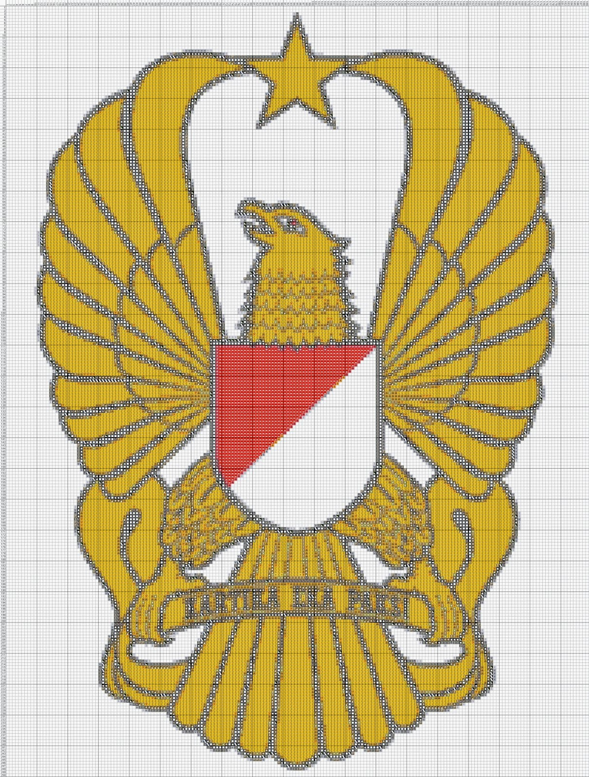 Gambar Pola Kristik Lambang TNI-AD